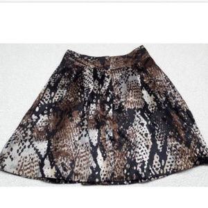 Worthington Snake Print Skirt with Pockets Size 8
